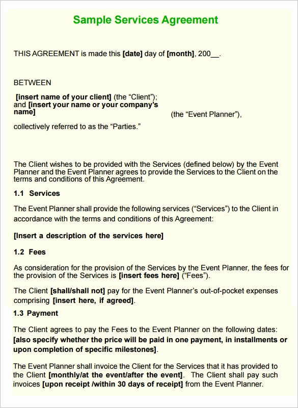 Sample Contract for Services Lovely 12 Service Contract Templates Pdf Doc