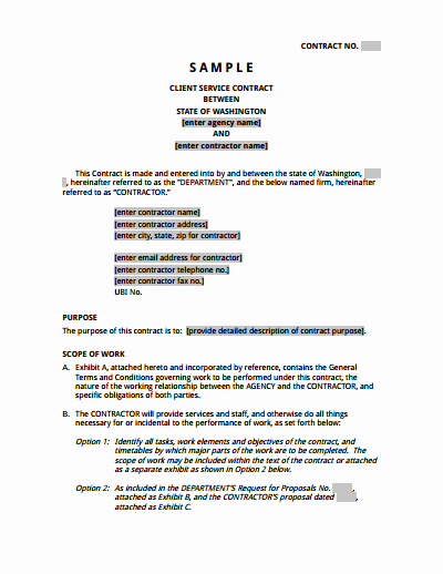Sample Contract for Services Lovely Service Agreement Template Free Download Create Edit