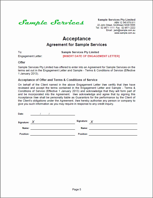 Sample Contract for Services Luxury New Tradesafe Contracts Documentation Overview & Samples