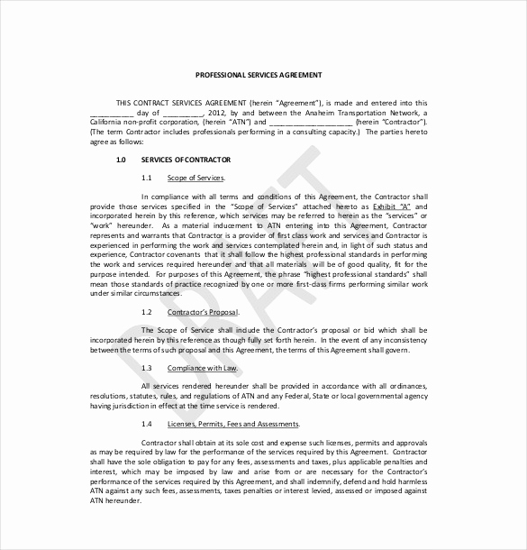 Sample Contract for Services New 36 Service Agreement Templates Word Pdf