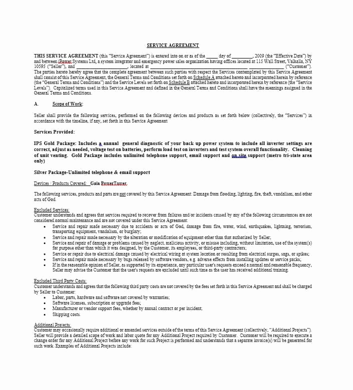 Sample Contract for Services Unique 50 Professional Service Agreement Templates & Contracts