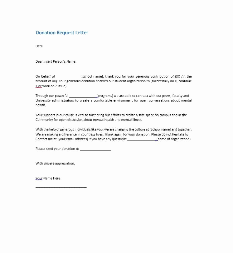 Sample Donation Request Letter Elegant 43 Free Donation Request Letters & forms Template Lab