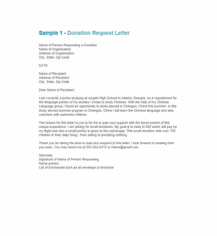 Sample Donation Request Letter Fresh 43 Free Donation Request Letters & forms Template Lab