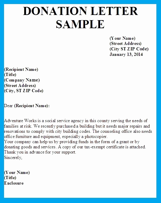 Sample Donation Request Letter Luxury Sample Letters asking for Donations