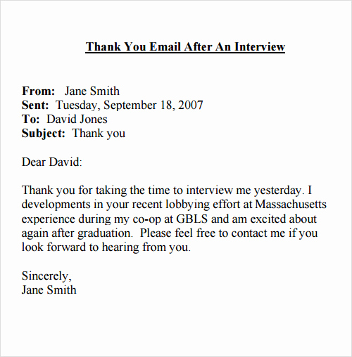 Sample Email after Interview Elegant Sample Email 13 Documents In Pdf Word Excel Psd
