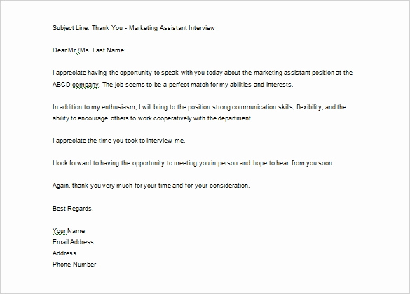 Sample Email after Interview Fresh 12 Thank You Letter after Job Interview Doc Pdf