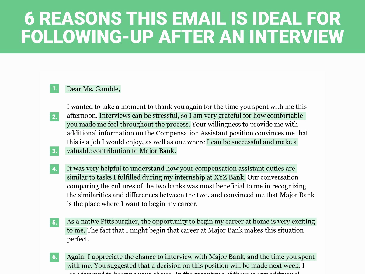 Sample Email after Interview Inspirational the Perfect Interview Follow Up Letter Business Insider