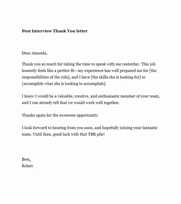 Sample Email after Interview Lovely 40 Thank You Email after Interview Templates Template Lab