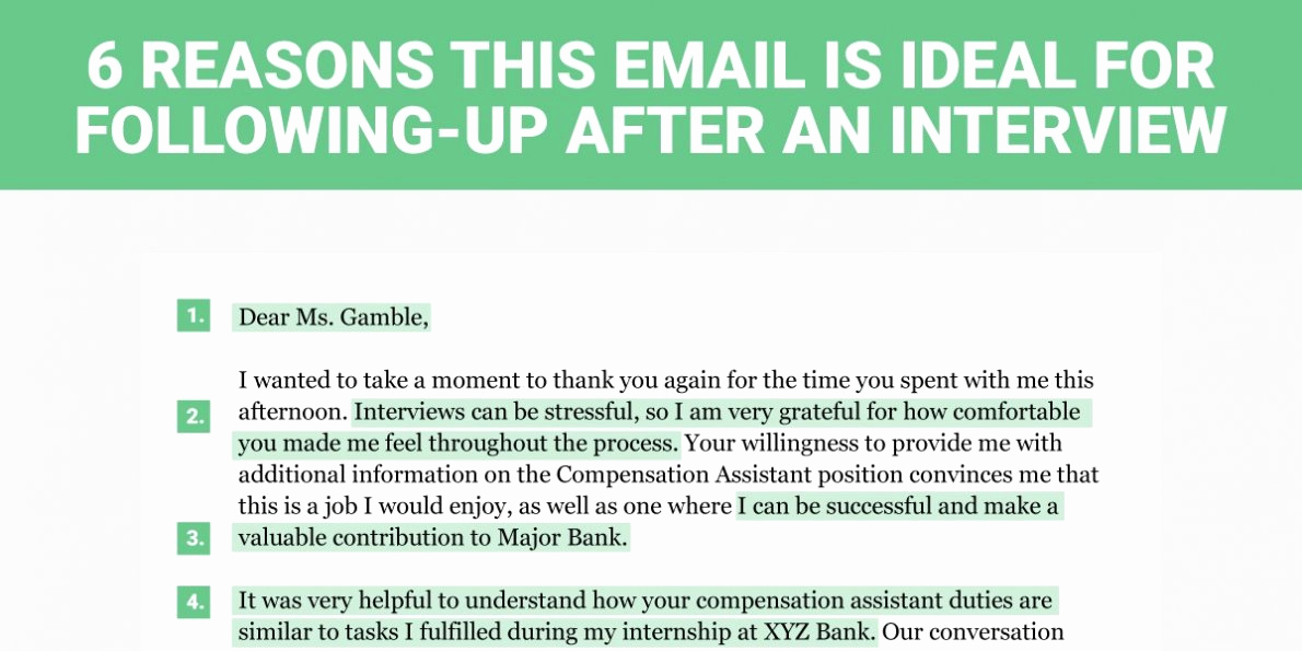 Sample Email after Interview New the Perfect Interview Follow Up Letter Business Insider