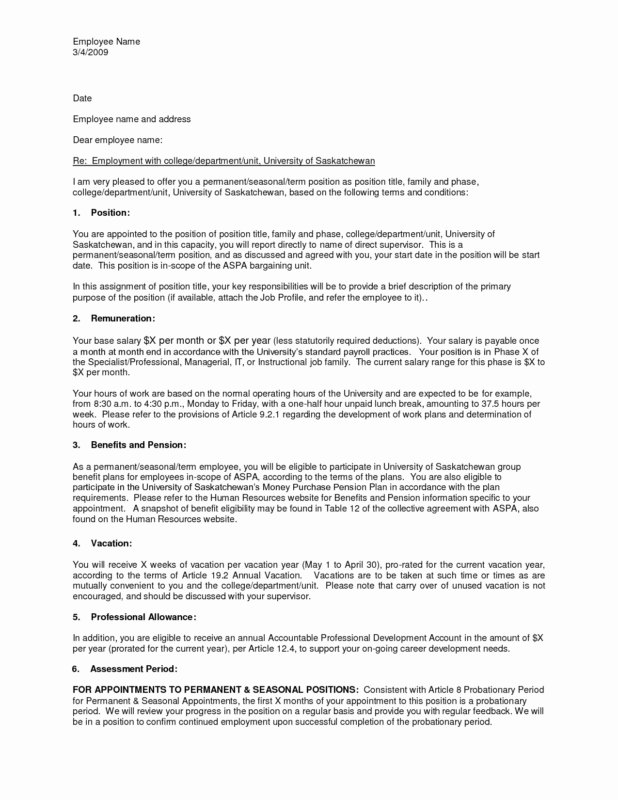 Sample Employment Offer Letter Elegant Job Fer Letter Template Uk