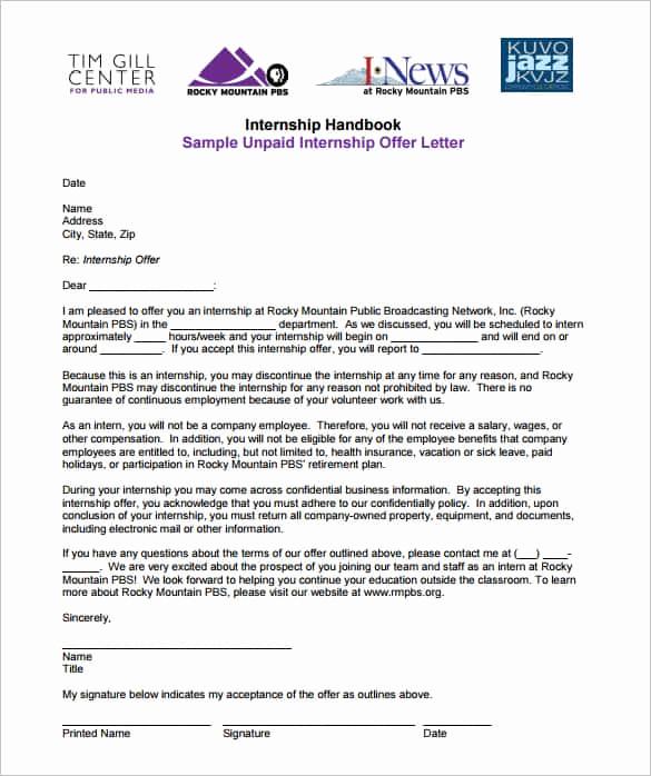Sample Employment Offer Letter Luxury 70 Fer Letter Templates Pdf Doc