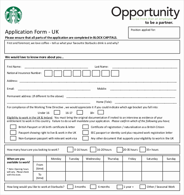 Sample Job Application form Beautiful 10 Restaurant Application Templates – Free Sample