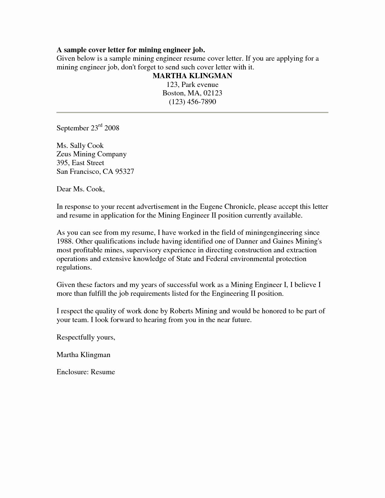 Sample Job Cover Letter Elegant Cover Letter Sample Free Sample Job Cover Letter for
