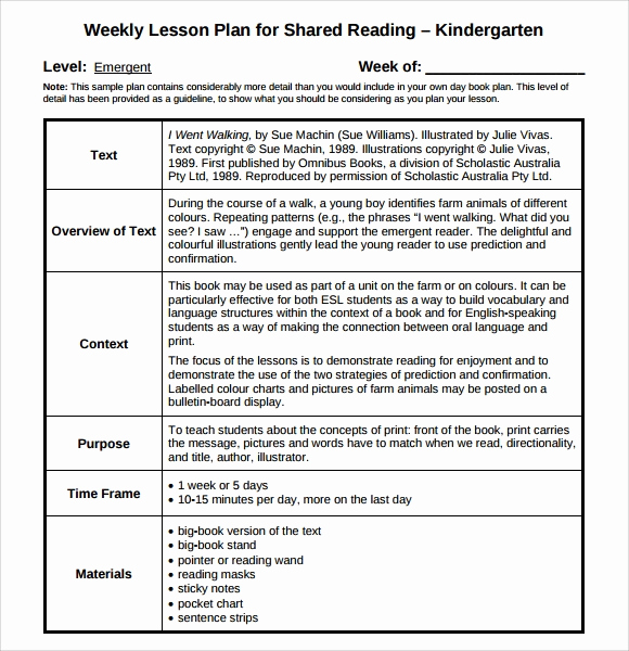 Sample Lesson Plan for Preschool Inspirational Sample Guided Reading Lesson Plan 8 Documents In Pdf