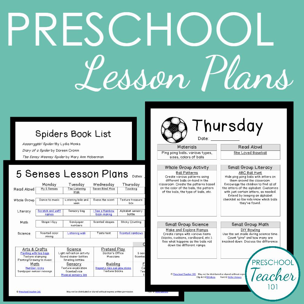 Sample Lesson Plan for Preschool Lovely Preschool Teacher 101 Membership Preschool Teacher 101