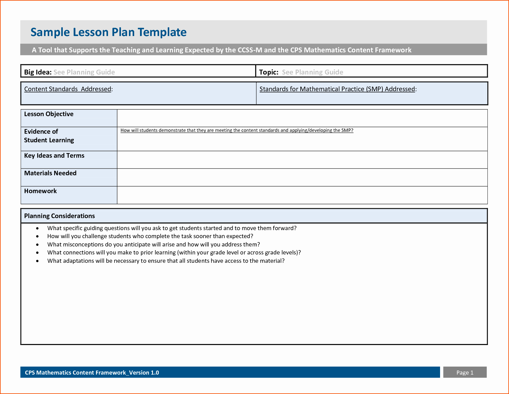 Sample Lesson Plan Template Elegant 6 Sample Lesson Plan Template Bookletemplate