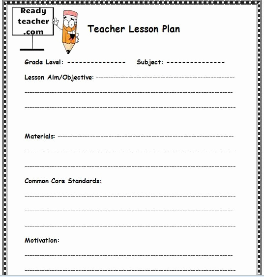 Sample Lesson Plan Template Lovely Free Lesson Plan Template for Teachers This Lesson