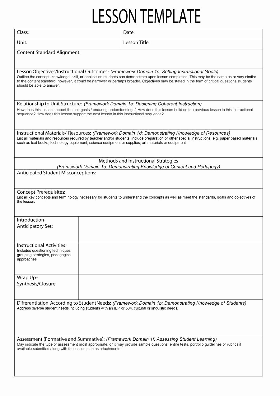 Sample Lesson Plan Template Luxury An Example Of A Lesson Plan Template – Creating A Lesson