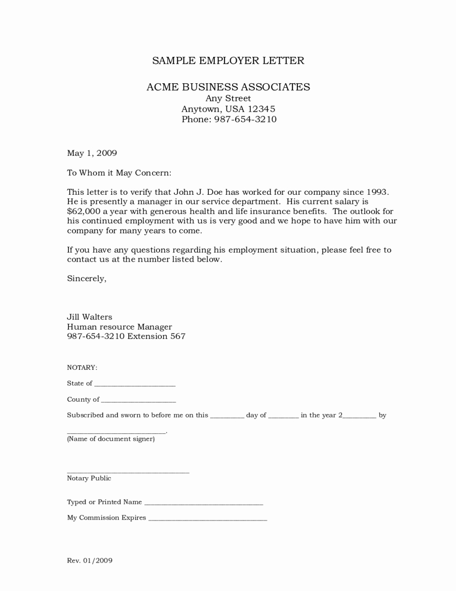 Sample Letter Of Employement Beautiful 2019 Letter Of Employment Fillable Printable Pdf