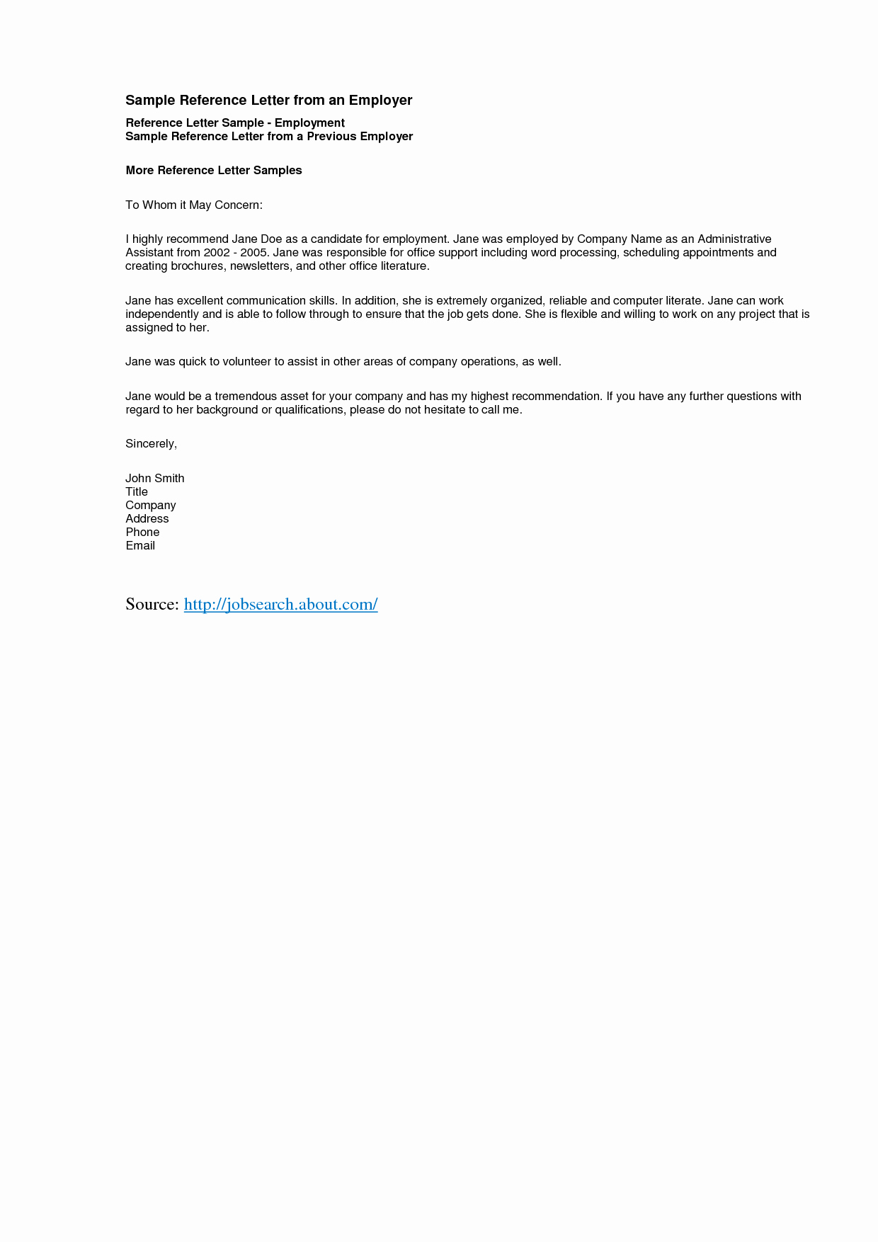 Sample Letter Of Reference Luxury Reference Letter Template Best Templatepersonal