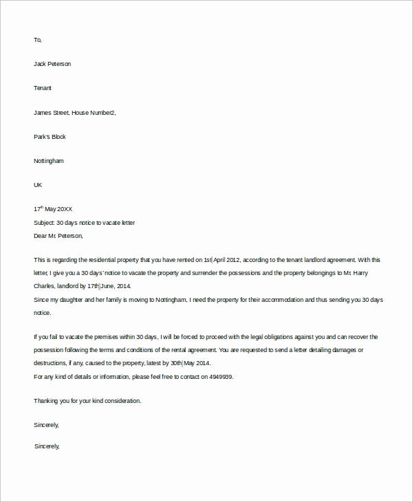 Sample Letter to Landlord Best Of 8 30 Day Notice to Landlord Samples Google Docs Ms