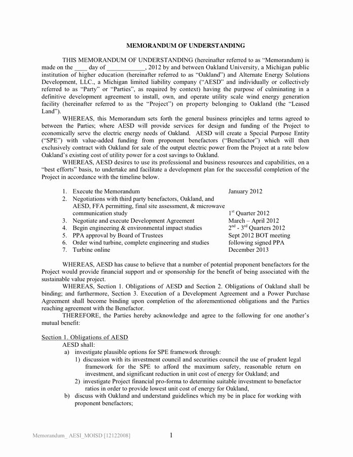 Sample Memorandums Of Understanding Lovely Sample University Memorandum Of Understanding In Word and