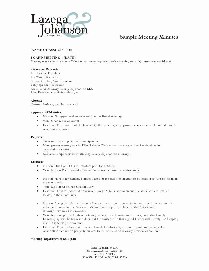 Sample Minute Of Meeting Fresh Sample Of Minutes Of Meeting