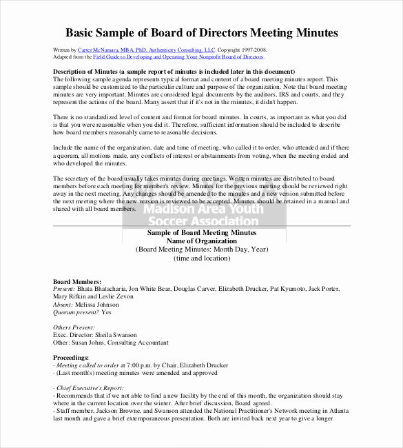 Sample Minute Of Meeting Unique 26 Minutes Templates Word Excel Pdf