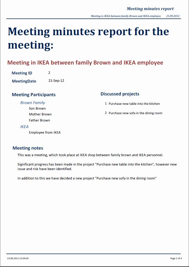 Sample Minutes Of Meetings Unique Miraapt tool