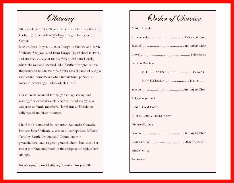 Sample Obituary for Father Best Of Sample Obituary for Father