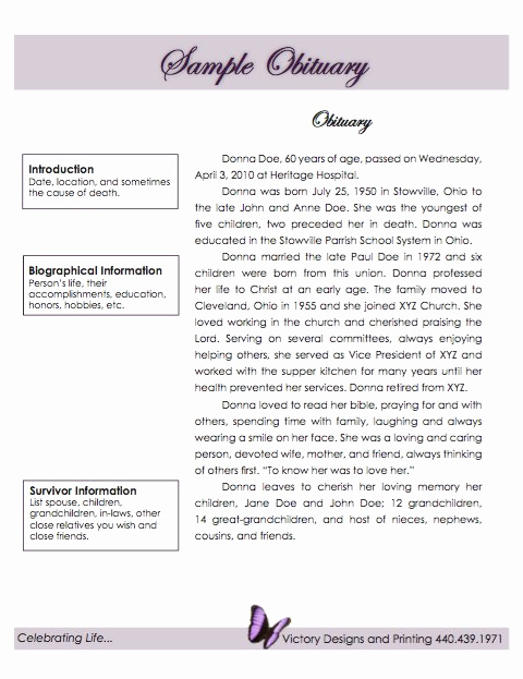 Sample Obituary for Mother Luxury 25 Free Obituary Templates and Samples Free Template