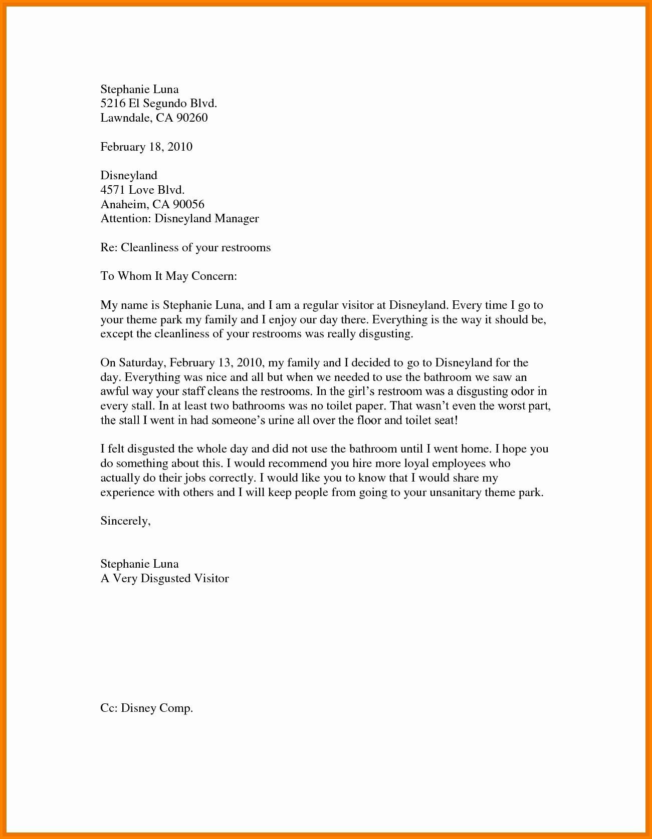 Sample Of Buisness Letter Beautiful Business Letter Sample for Students