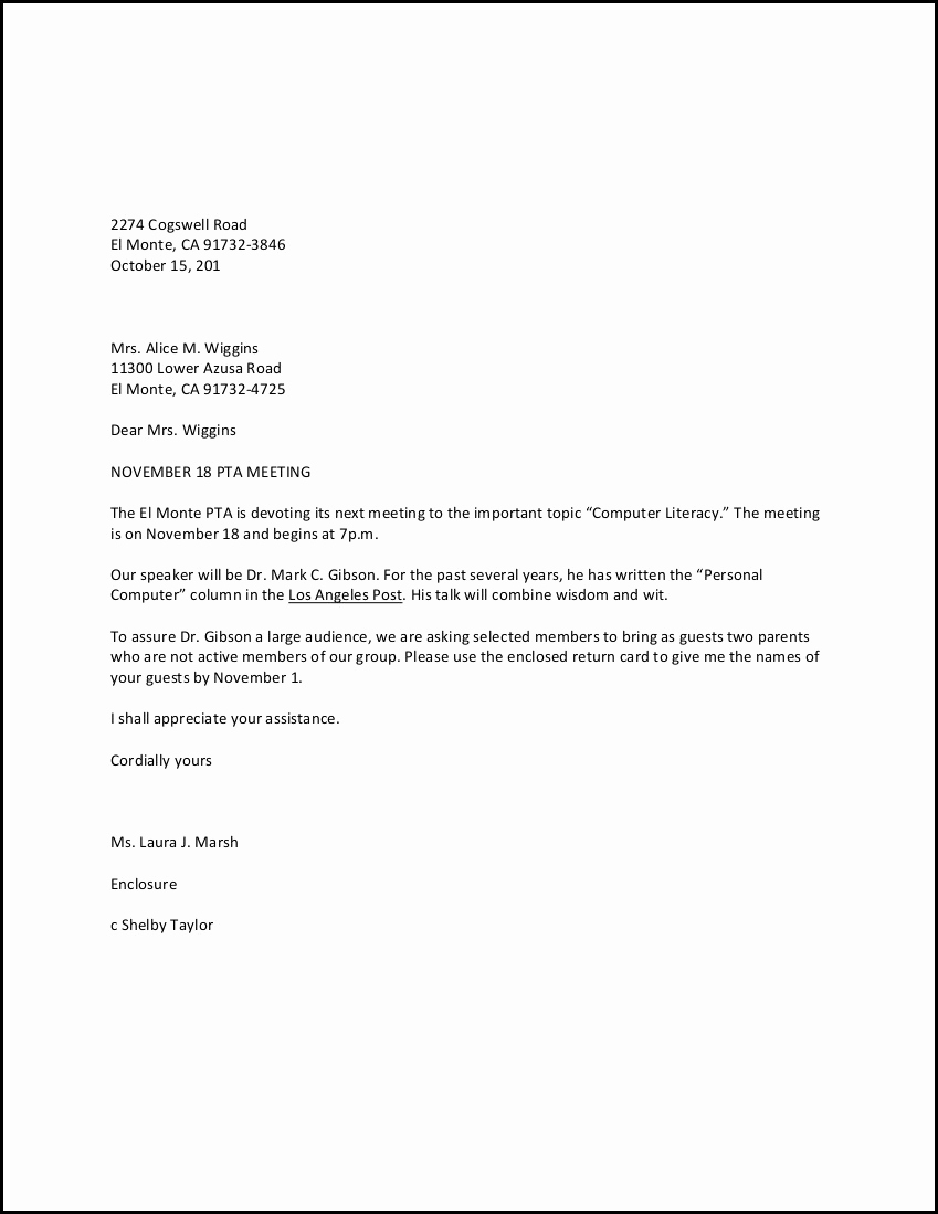 Sample Of Buisness Letter Best Of Personal Business Letter Example