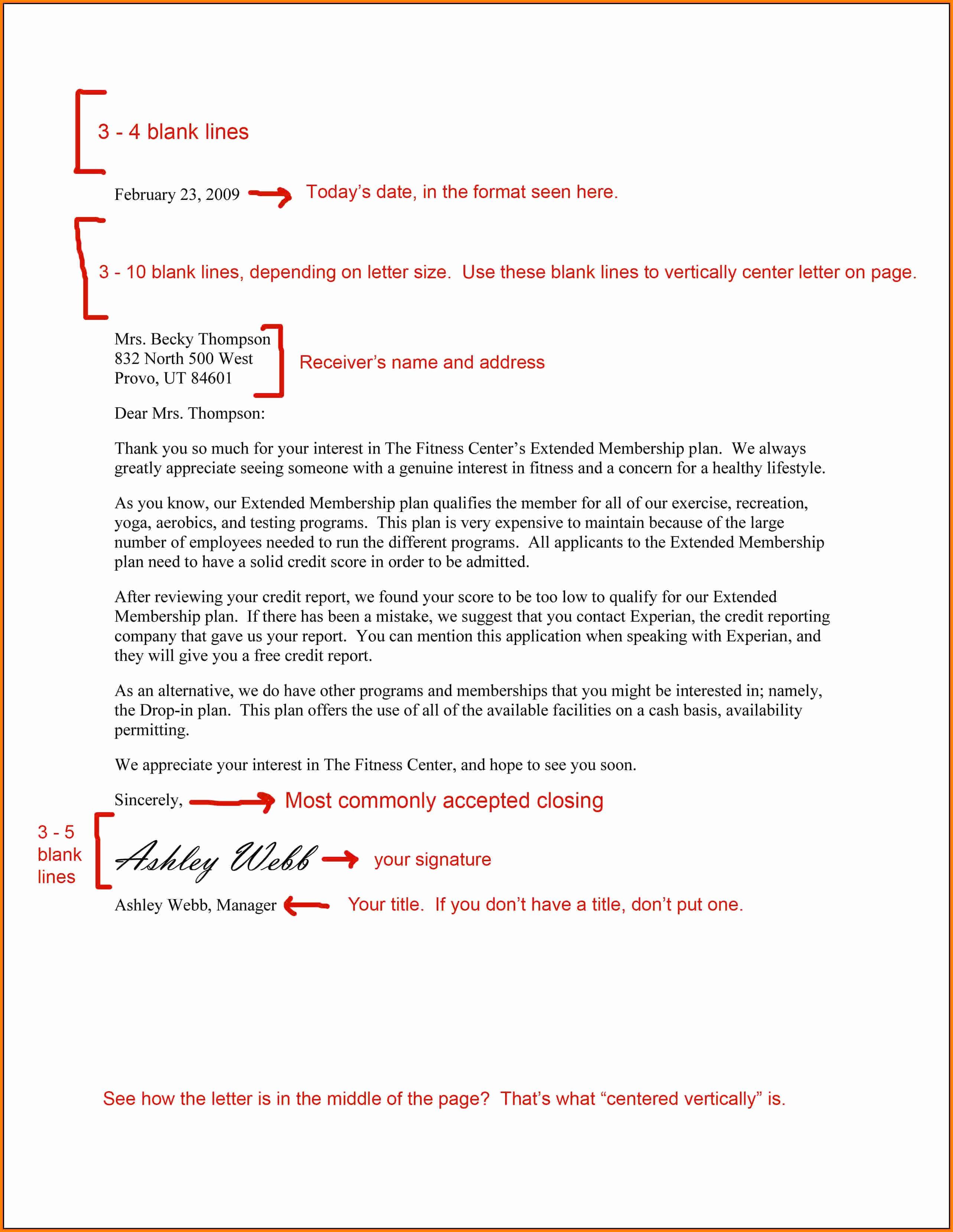 Sample Of Buisness Letter New Image Result for Business Letter