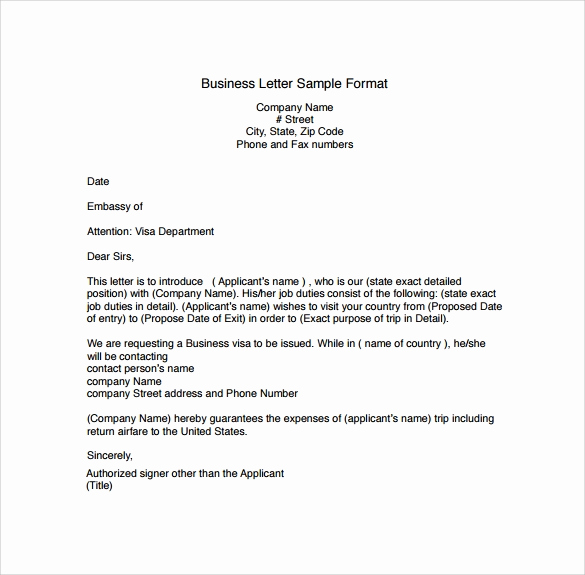 Sample Of Business Leter Best Of 29 Sample Business Letters format to Download