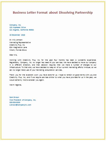 Sample Of Business Leter New Business Deal Letter format