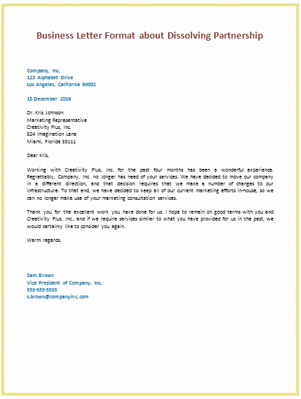 Sample Of Business Letter Fresh Business Deal Letter format