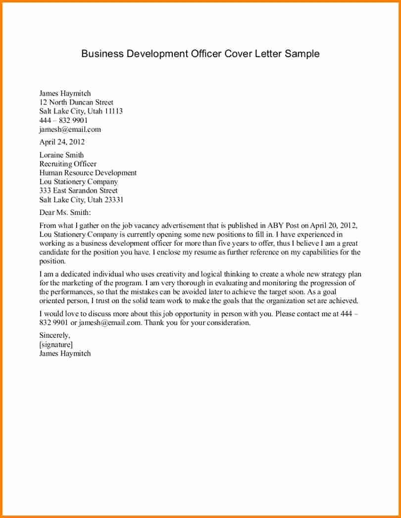 Sample Of Business Letter Lovely Business Letter format Example