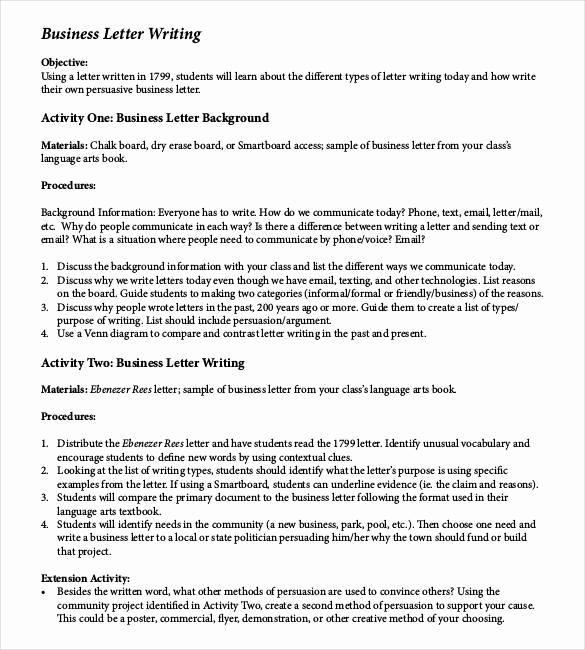 Sample Of Business Letterhead Beautiful 50 Business Letter Templates Pdf Doc