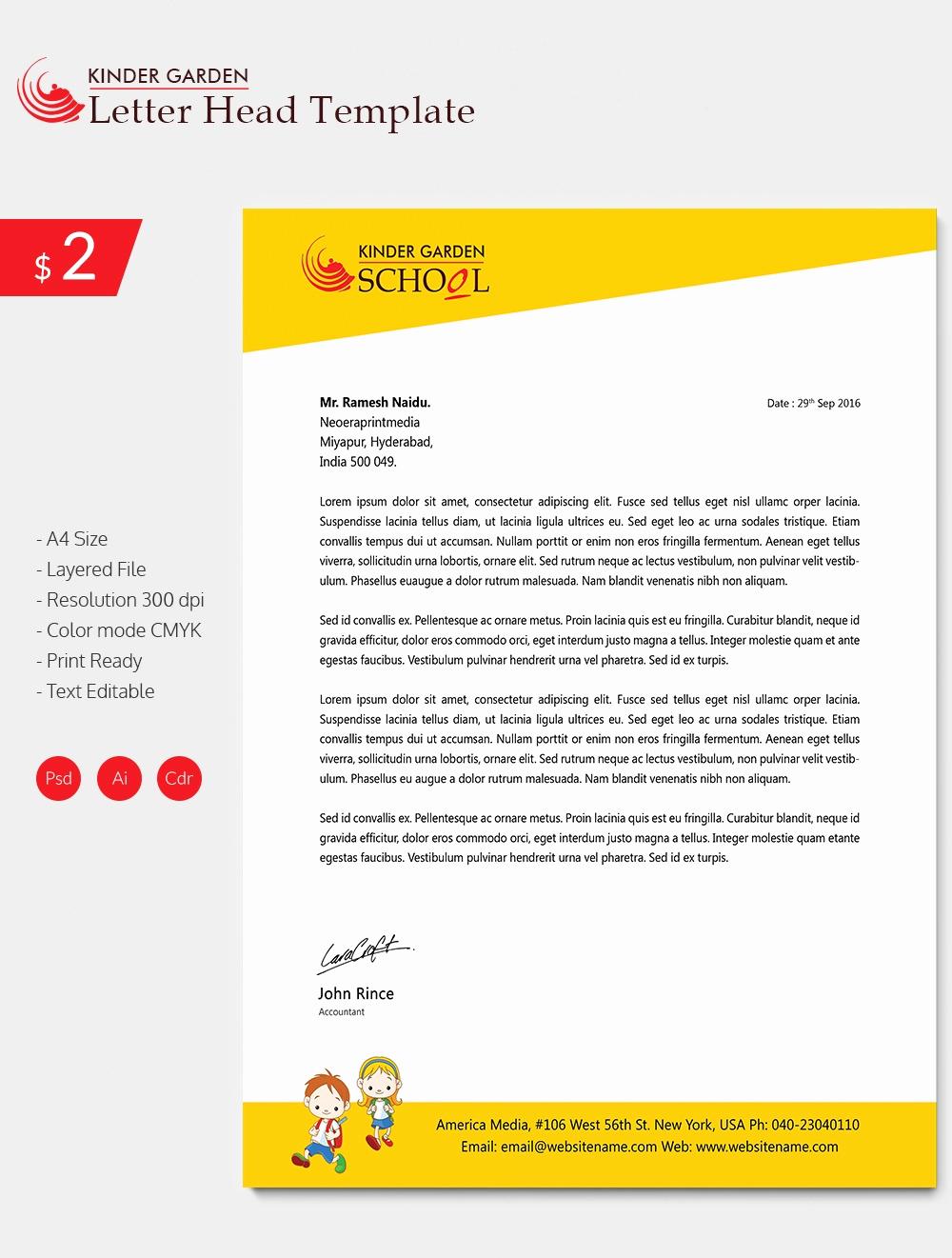 Sample Of Business Letterhead Best Of 25 Letterhead Design Templates Free Psd Ai Word