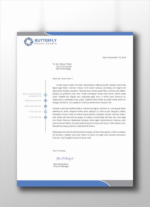 Sample Of Business Letterhead Fresh 30 Professional Letterhead Templates Free Word Psd Ai