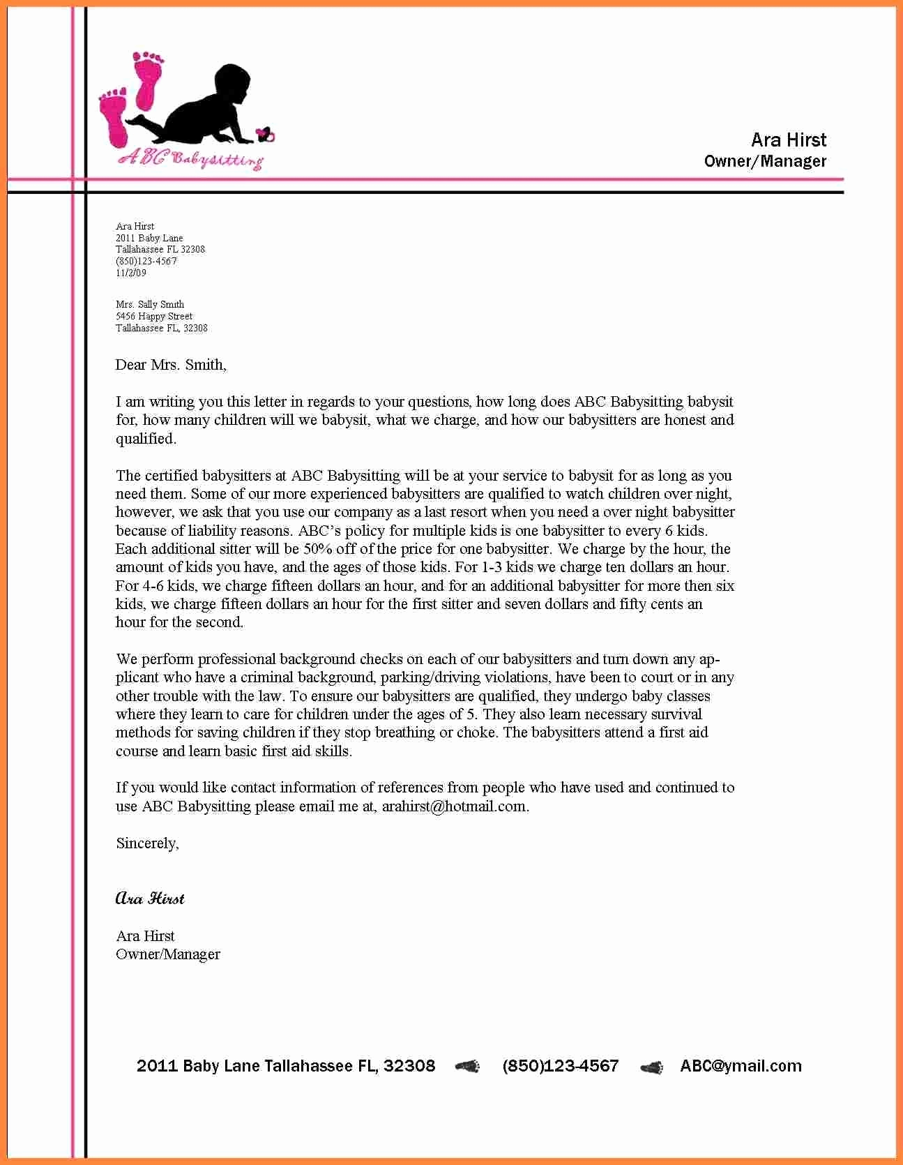 Sample Of Business Letterhead Inspirational formal Letter format with Letterhead 2018