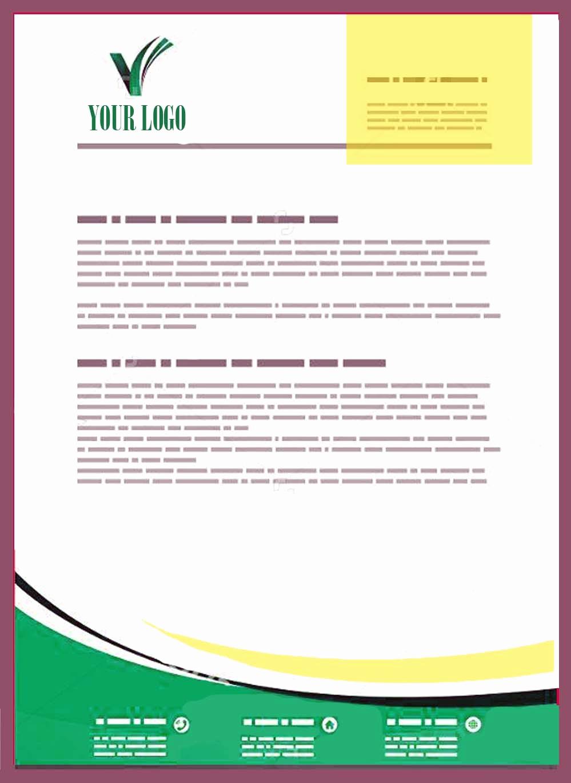 Sample Of Business Letterhead New Pany Letterhead Templates Doc