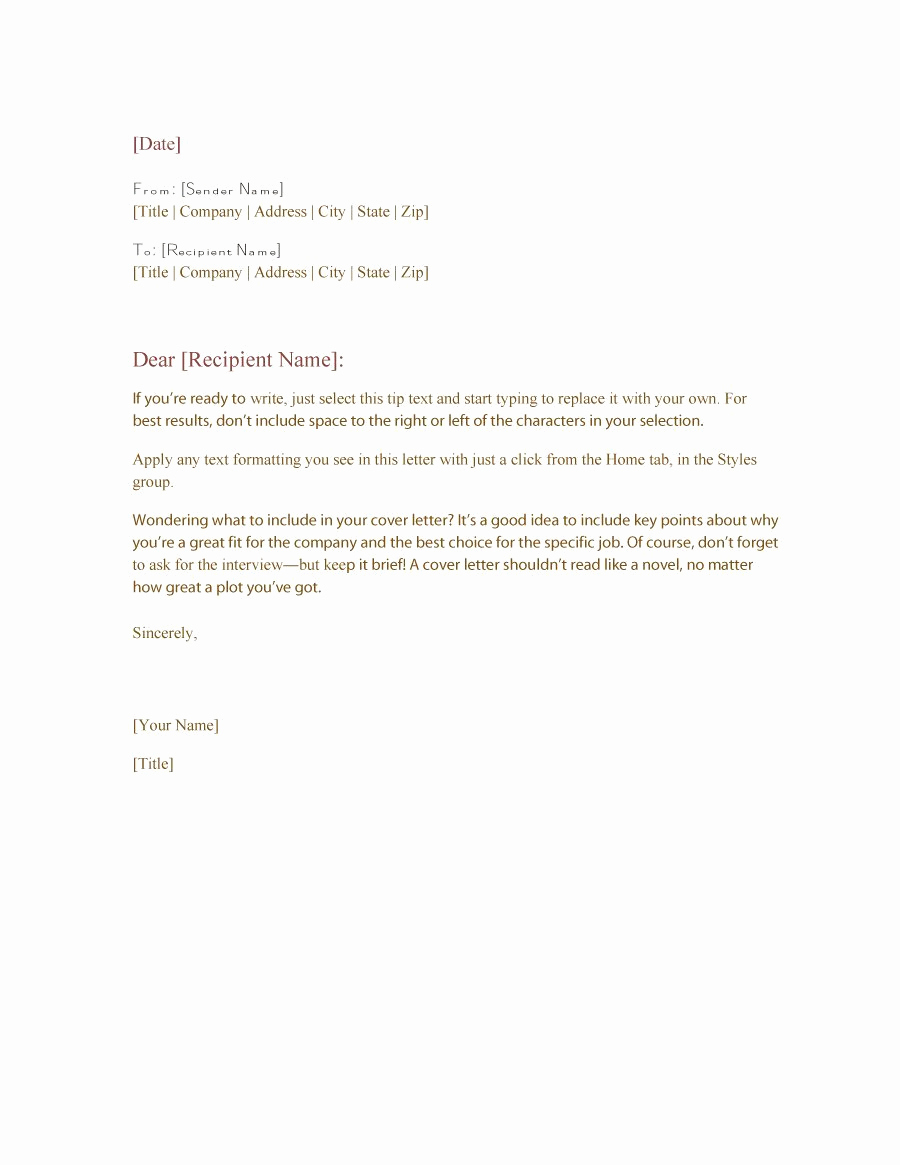 Sample Of Business Letters Fresh 35 formal Business Letter format Templates & Examples