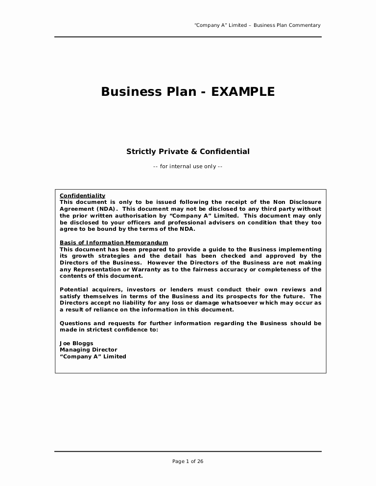 Sample Of Bussiness Letters Awesome Business Plan Sample Great Example for Anyone Writing A