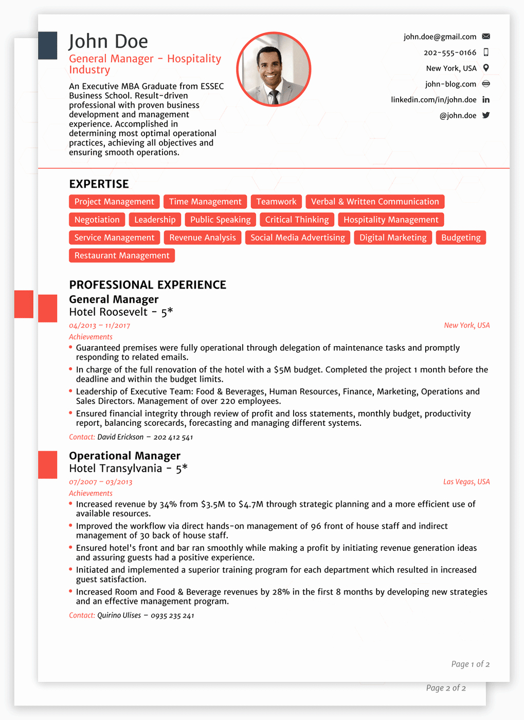 Sample Of Curriculum Vita Beautiful Professional Cv Templates for 2019 [edit & Download]