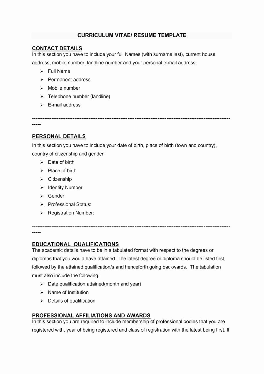 Sample Of Curriculum Vita Best Of 48 Great Curriculum Vitae Templates & Examples Template Lab