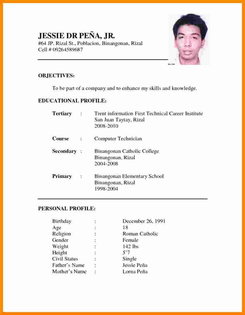 11 curriculum vitae example doc