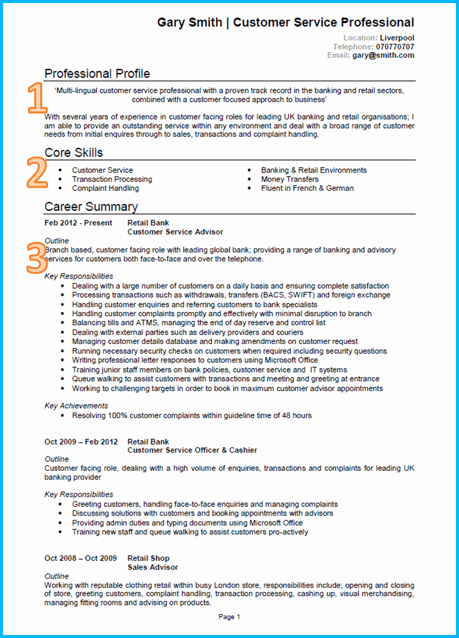 Sample Of Curriculum Vita Lovely Example Of A Good Cv