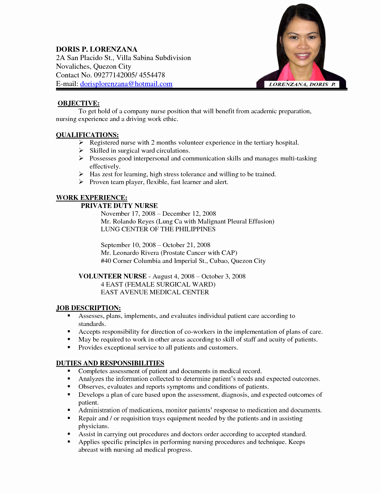 Sample Of Curriculum Vita Lovely Nursing Curriculum Vitae Examples Google Search